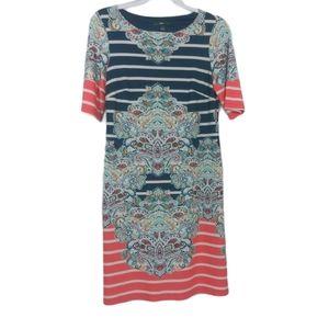 R&K Striped Mirror Print Dress